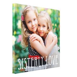 Sisterly Love Custom Photo Canvas Canvas Print