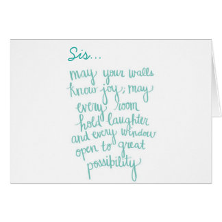 "***SISTERLY LOVE"" ON YOUR BIRTHDAY AND EVERYDAY CARD"