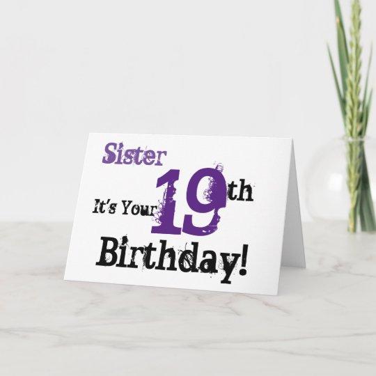 19th Birthday Cards Zazzle