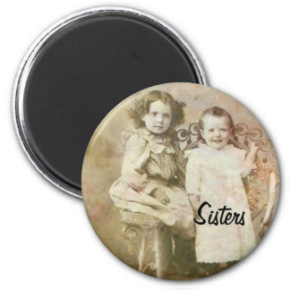 Sisters 2 Inch Round Magnet