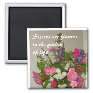 Sisters 2 Inch Square Magnet
