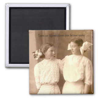 Sisters... 2 Inch Square Magnet
