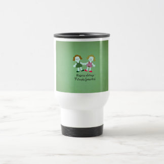 Sisters always - friends forever! travel mug