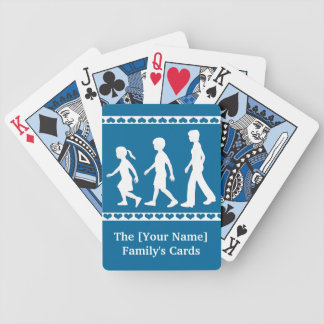 Sisters and Brother: Sibling Silhouettes Bicycle Playing Cards