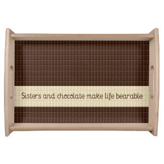 'Sisters and Chocolate' Serving Tray