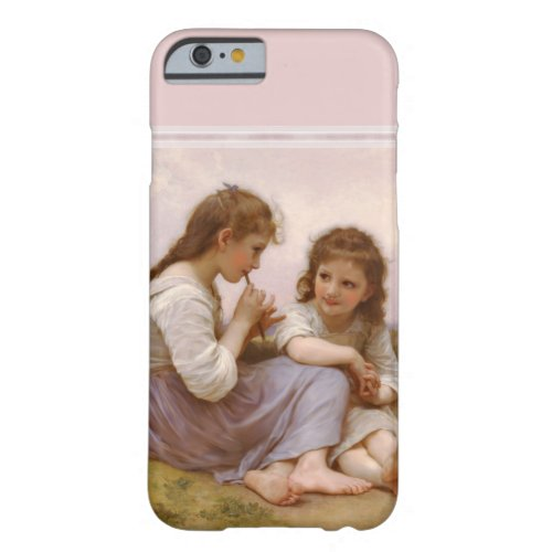 Sisters and Flute Music by Bouguereau Phone Case