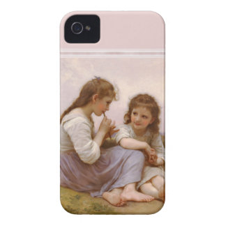 Sisters and Flute Music by Bouguereau iPhone 4 Case-Mate Case
