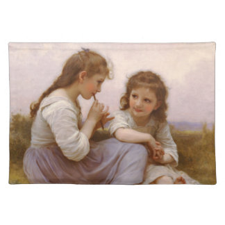Sisters and Flute Music by Bouguereau Place Mats