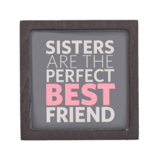Sisters are Best Friends Premium Jewelry Box