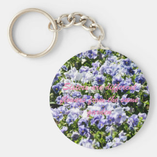 Sisters Are Different Flowers Keychain