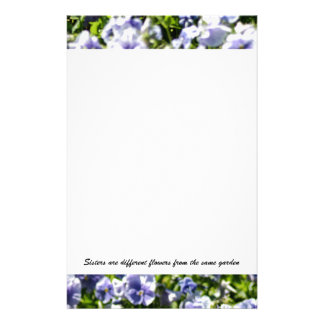 Sisters Are Different Flowers Stationery