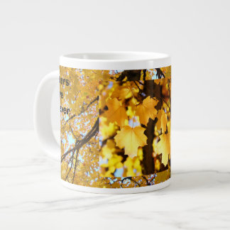 Sisters are Forever Large Mug Yellow Autumn Leaves