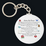 "Sisters Are Forever Poem Keychain<br><div class=""desc"">Keychain Template</div>"