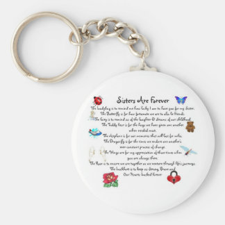 Sisters Are Forever Poem Key Chains