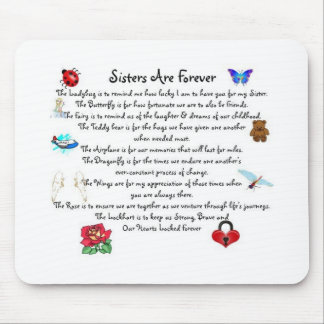 Sisters Are Forever Poem Mouse Pad