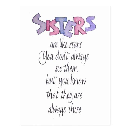 Sisters are like Stars Post Card