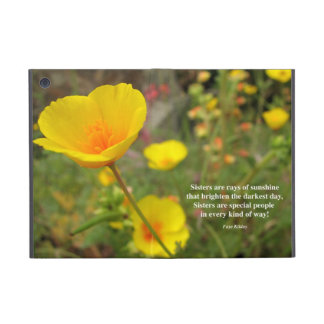 Sisters Are Special Poem Yellow Poppy iPad Mini Cover