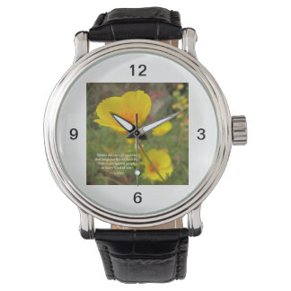 Sisters Are Special Poem Yellow Poppy Wrist Watch