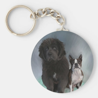 Sisters Basic Round Button Keychain