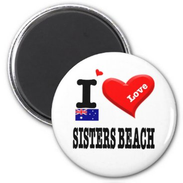 SISTERS BEACH - I Love Magnet