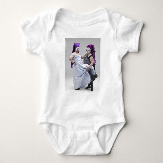 Sisters Bertha De Zoot and Kara Z'Matic Baby Bodysuit