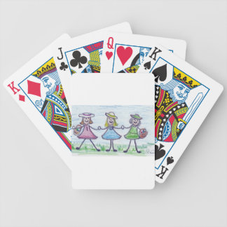 Sisters Bicycle Playing Cards