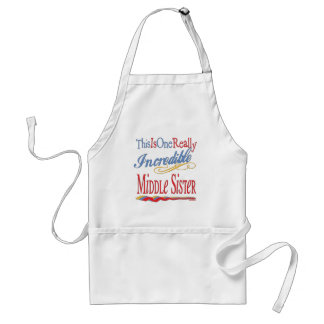 Sisters: Big Little and Middle Adult Apron