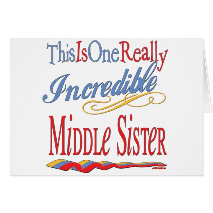 Sisters: Big Little and Middle Card