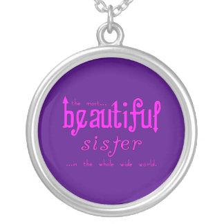 Sisters Birthdays Parties : Beautiful Sister Round Pendant Necklace