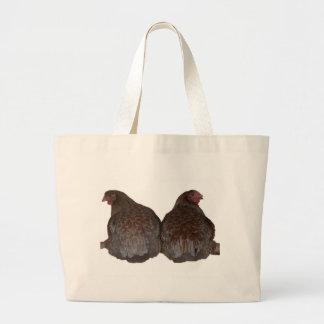 Sisters - Blue Laced Wyandotte Hens Roosting Tote Bags