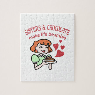 Sisters & Chocolate Jigsaw Puzzle