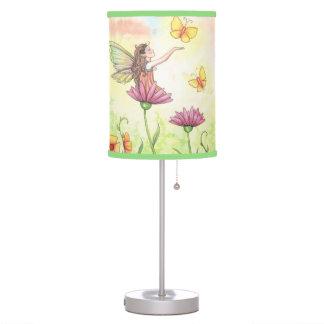Sisters Cute Fairy Butterfly Ladybug Art Desk Lamp