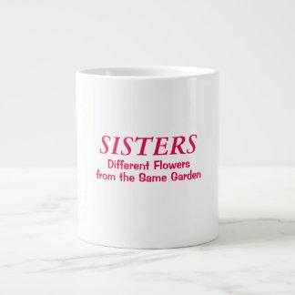 SISTERS DIFFERENT FLOWERS MUG