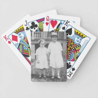 Sisters Dressed Up in Sunday Best 1920's Bicycle Playing Cards