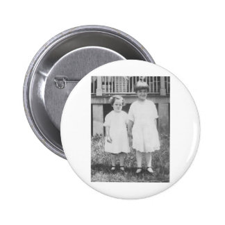 Sisters Dressed Up in Sunday Best 1920's Button