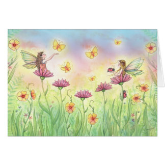 Sisters Fairy Greeting Card