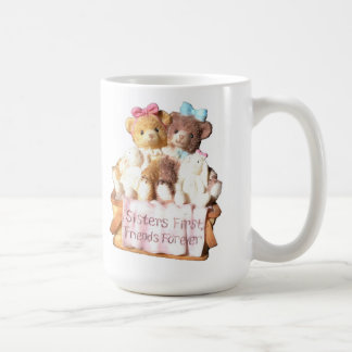 Sisters First Friends Forever Two Bears Coffee Mug