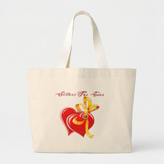 Sisters For Ever Hearts Tote Bags