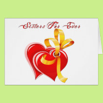 Sisters For Ever Hearts Card
