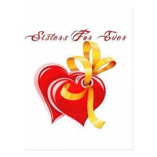 Sisters For Ever Hearts Postcard