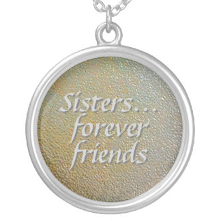 Sisters Forever Friends Stamped Gold Silver Look Necklaces