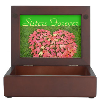 Sisters Forever gift boxes Keepsakes Heart Leaves Memory Boxes