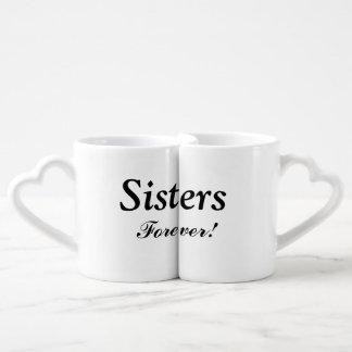 """""""Sisters Forever"""" Nesting Mug Set"""