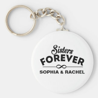 Sisters Forever Template Keychain