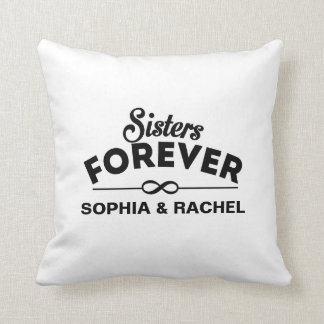 Sisters Forever Template Throw Pillow
