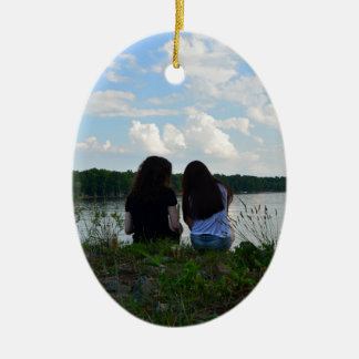 Sisters/Friends Ceramic Ornament