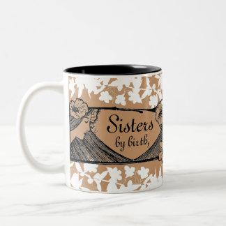 Sisters, Friends Two-Tone Coffee Mug