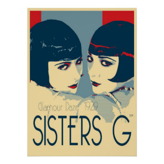 Sisters G - 1920 s Fashion Poster