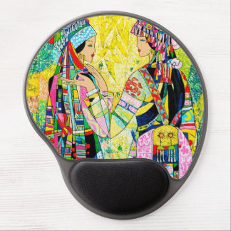 Sisters Hao Ping oriental abstract ladies girls Gel Mouse Pad