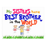 Sisters have Best Brother Postcard